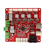 Anet Auto Leveling A8 Mainboard, 12V-24V Replacement Control Board/Motherboard for Auto Leveling A8 3D Printer (Color: red, Tamaño: Auto level A8 type)