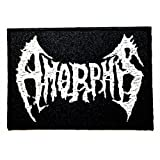 Amorphis Punk Rock Heavy Metal Music logo Patch Sew Iron on Logo Embroidered Badge Sign Emblem Costume BY Dreamhigh_skyland