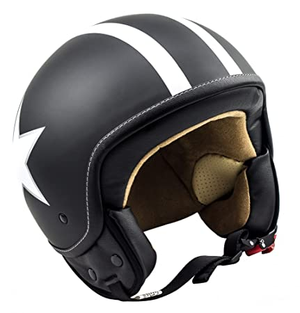 SOXON SP-301 Star noir casque JET moto Cruiser Pilot - Taille: XL