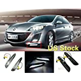 MotorFansClub LED Daytime Running Light For Mazda 3 Axela Car Fog Lamp DRL 2010 2011 2012 2013