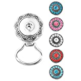 Souarts Interchangeable Eyeglass Holding Snaps Brooch with 5pcs Rhinestone Round Buttons