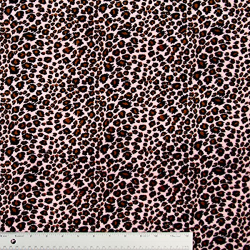 Pink Cheetah Animal Print On Plush Minky Fabric / By The Yard front-744565