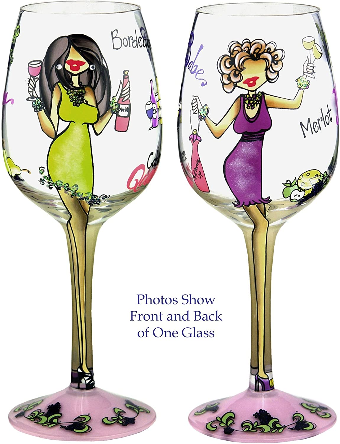 I'll Drink to That Handpainted Wine Glass