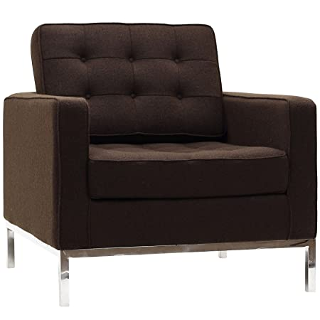 Modway Furniture EEI-184-CHC Loft Armchair in Chocolate Brown LoftCollection