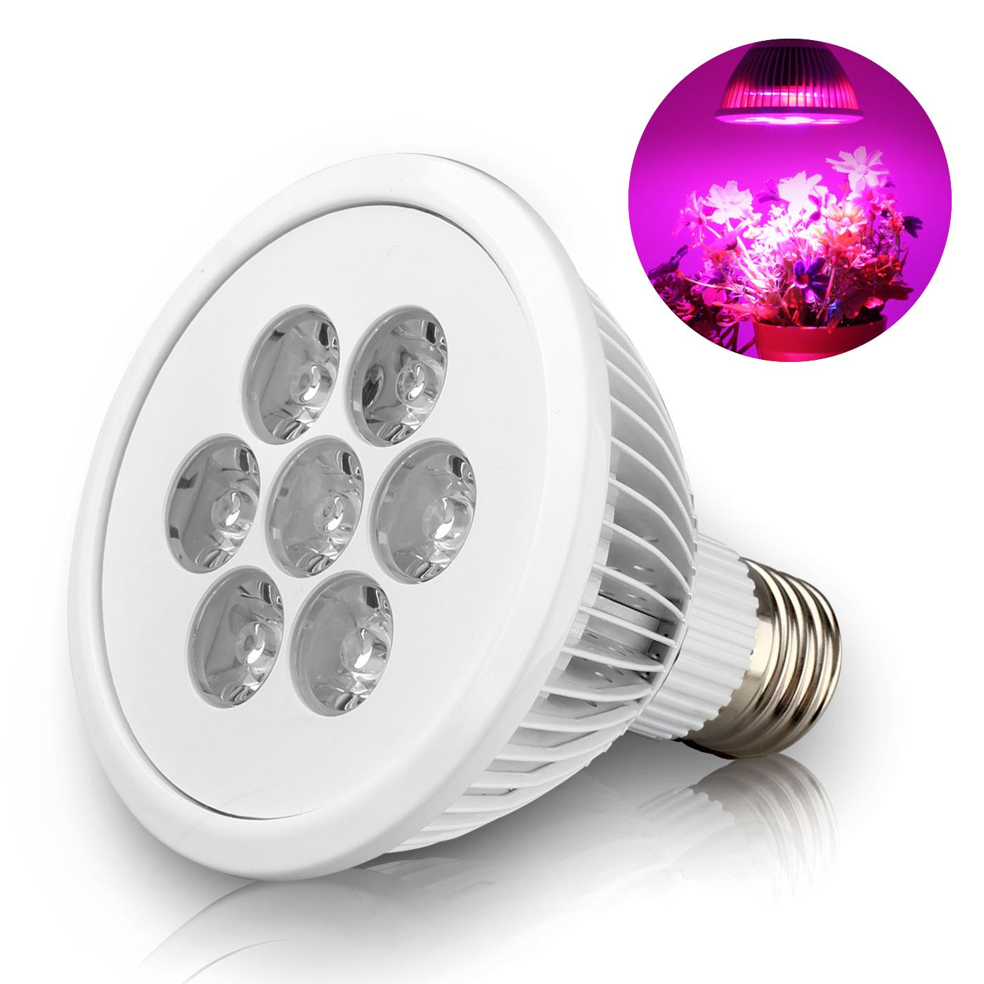 BeeHome LED Plant Grow Light Bulb For Hydroponic Garden Greenhouse