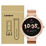 for Kate Spade Scallop Band, Lamshaw Stainless Steel Metal Replacemet Straps for for Kate Spade Scallop Touchscreen Smartwatch (Rose Gold) (Color: Rose Gold)