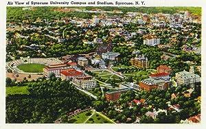 Aerial View of Syracuse University and Stadium