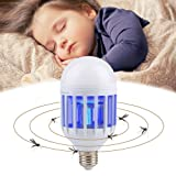 Bug Zapper Light Bulb,Zapplight 2 In 1 LED Bulb,Mosquito Killer, Built in Insect Trap, Fits in 110v Light Bulb Socket, 15W Perfect for Indoor Home Garden Patio Backyard (Color: White, Tamaño: M)
