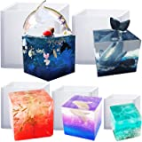Funshowcase Cube Paperweight Silicone Mold for Polymer Clay Crafting, Soap Making, Resin Epoxy, Jewelry Making Assorted Size 5-Pack (Tamaño: 5-size pack ( 0.8, 1, 1.4, 2, 2.5 inch ))
