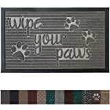 Gorilla Grip Original Durable Rubber Door Mat, 35x23, Heavy Duty Pet, Dog Doormat, Indoor Outdoor, Waterproof, Easy Clean, Low-Profile Mats for Winter Snow, Entry, High Traffic Areas, Stone Paws (Color: Stone Paws, Tamaño: 35