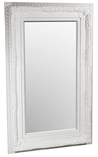 Febland Edward Wall Mirror, White, Large
