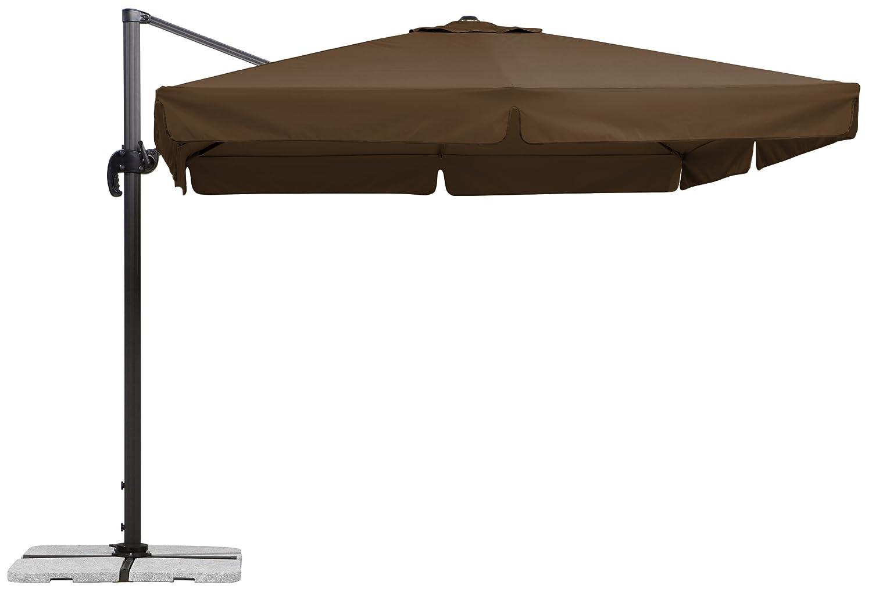 Schneider Sonnenschirm Rhodos, mocca, ca. 300 x 300 cm, 8-teilig, quadratisch günstig kaufen