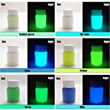 6 Color Pack Glow in The Dark Pigment Powder,Epoxy Resin Color Pigment - 25g Each,150g Total