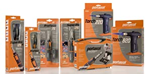Portasol 011280240 Pro Piezo 75 Watt Butane Powered Soldering Iron (Color: Gray/Orange, Tamaño: 11-inch)