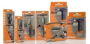 Portasol 010580430 Super Pro 125 Watt Butane Powered Soldering Iron (Color: Gray/Orange, Tamaño: 11-inch)