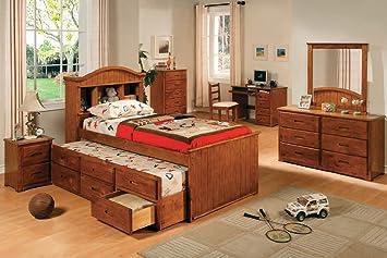 Dresser in American Oak Finish by Furniture of America # CM7033D