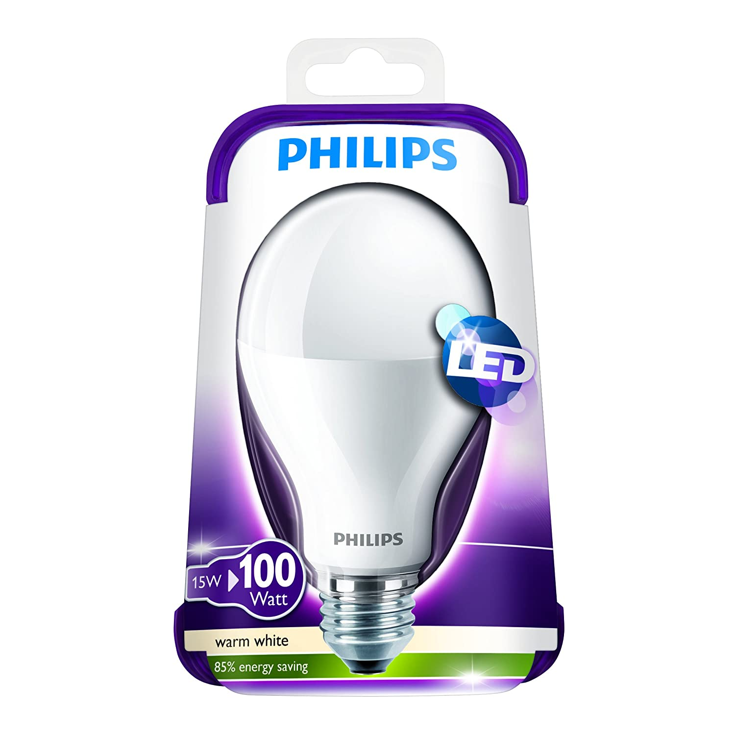 Philips Lampadina LED, Attacco E27, 15W equivalente a 100W, 230V