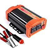 Soyond 400W Power Inverter DC 12V to AC 110V Car Adapter with 4.8A 2 USB Charging Ports (Tamaño: 400W)