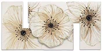Pintdecor Petunia Piccola Quadro, Legno/Tela, Bianco, 115 x 55 cm