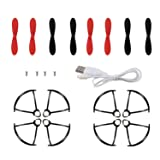 Holy Stone HS190 HS190W RC Drone Quadcopter Spare Parts Crash Pack (2 Spare Blades Sets+ 2 Propeller Guard Sets+ 1 Charging Cable)