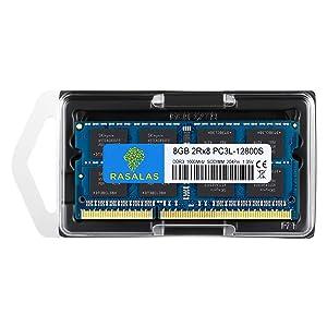 8GB DDR3, 8GB 1600 DDR3, Rasalas PC3L-12800S DDR3l 1600 mhz 2Rx8 PC3L-12800S 8GB 1.35V 204-Pin CL11 Dual Rank Ram Laptop Chips (Color: 8GB Blue, Tamaño: Sodimm)