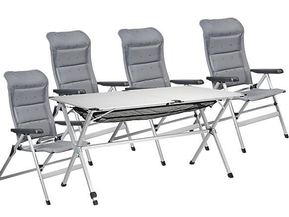 5tlg. Jet-Line gruppo di sedie per giardino e campeggio, tavolo 140x 80cm; ch-0608ta 0806