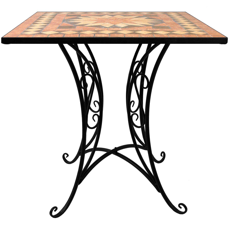 Mosaik Tisch 70x70cm Mosaiktisch Bistrotisch Beistelltisch Gartentisch Balkontisch Terrassentisch