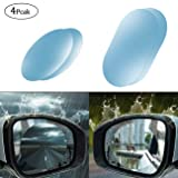 4Pcs Car Rearview Waterproof Film Anti-Fog Film Anti Glare Rain-Proof Anti Water Mist Foseal Side Mirror Film Fit for Car, SUV,Truck,Moto,etc.