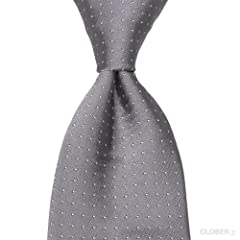 Satin Pin Spot Tie: Grey