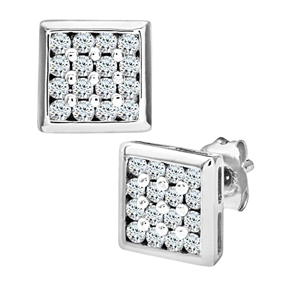 Naava 9ct Mens 20pt Diamond Earring