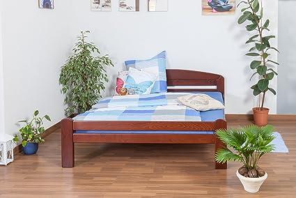 "Holzbett ""Easy Sleep"" K5, 160 x 200 cm Buche Vollholz massiv dunkelbraun lackiert"