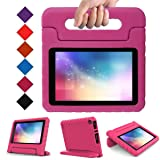 LTROP All-New Kid-Proof Case for Amazon Fire 7 Tablet (7th Generation, 2017 Release) - Rose (Color: Amazon Fire 7 Case (7