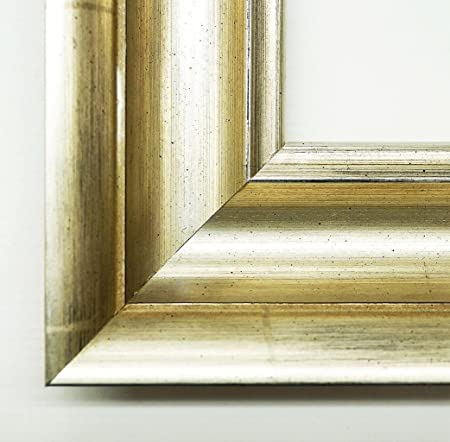 Wall Mirror––Academie Silver 3Dimensions of the Mirror Glass 90x 120Genuine Wood