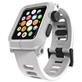 LUNATIK EPIK Polycarbonate Case and Silicone Strap for Apple Watch Series 1, White/White