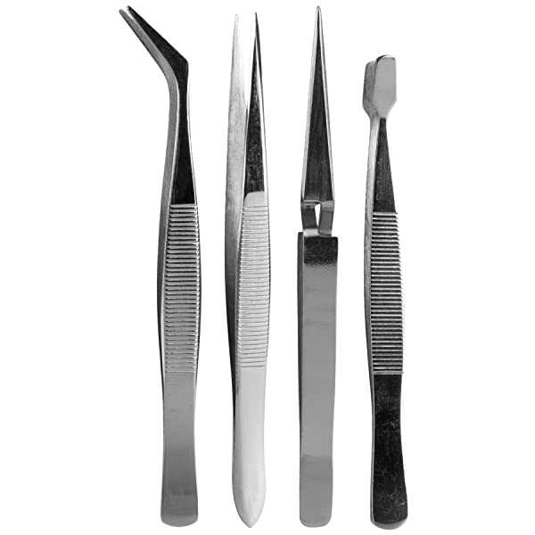 SE 4-Piece Hobby Tweezers Set