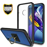 Huawei P20 Lite Clear Case With HD Screen Protector + Phone Stand,Ymhxcy [Anti-Scratch] [Shock Absorption] [Air Hybrid] Ultra Slim Bumper Cover For Huawei P20 Lite (5.8') -CB2 Black