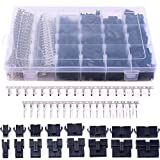 Glarks 1940Pcs 2.5mm Pitch JST-SM 2/3 / 4/5 / 6/7 / 8/9 Pin Male and Female Plug Housing and Male/Female Pin Header Connector Assortment Kit (Color: JST SM 2 3 4 5 6 7 8 9)