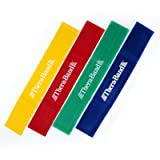 TheraBand Resistance Band Loop Set, Pack of 4, 18 Inch Band Loop Kit for Legs & Butt Workouts, Beginner to Advanced Levels for Exercise, Rehab, Physic