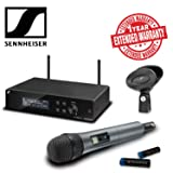 Sennheiser XSW 2-835-A Wireless Handheld Microphone System with e835 Capsule Includes Protective Pouch, Batteries, Power Supply AND 1-Year Extended Warranty