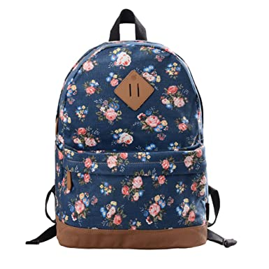 DGY Women's Korean Fashion Casual Preppy Style Backpack G00133 (Light Blue A)