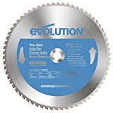 Evolution Power Tools Thin Steel Carbide-Tipped Blade, 355 mm (Tamaño: 355 mm)