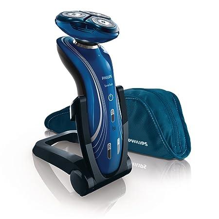 Philips SHAVER 7000 SensoTouch 2D RQ1155 - Afeitadora (Rotación, 3 piezas, Azul, Batería, Ión de litio, 5.4W)