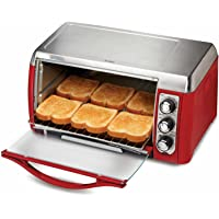 Hamilton Beach 31335 Ensemble 6-Slice Toaster Oven (Red)