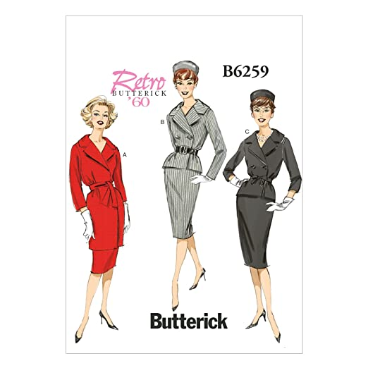 1960s Sewing Patterns- Dresses, Tops, Pants etc 1960 Misses Jacket Skirt and Belt A5 (6-8-10-12-14) $7.43 AT vintagedancer.com