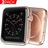 Case for Apple Watch Screen Protector, Ultra-Thin Case for Series 4 44mm HD Clear Touch Screen Protector All Around Soft TPU Bumper Cover [2 Pack] (Color: 44mm)