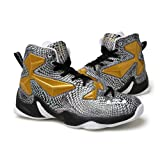 No.66 Town Men's Performance Shock Absorption Running Shoes Sneaker Basketball Shoes Size 8.5 Gold