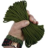 MilSpec Paracord MIL-C-5040H Parachute Cord.  Paracord MilSpec 550 Cord.  Military Survival Cord, Type III.  Use with Paracord Tools.  Braided Utility Cord Nylon Tent Camping Hiking Hunting Ropes.