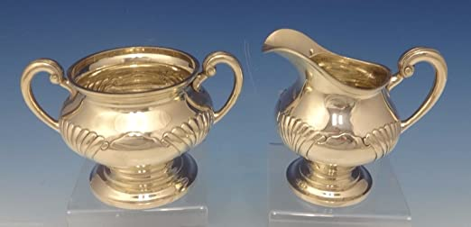 Onslow by Tuttle Sterling Silver Sugar Bowl & Creamer Set 2-Pc. #1834 (#0504) by Antique Cupboard