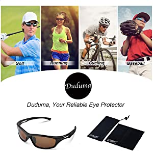 6b1a98df61 ... Duduma Polarized Sports Sunglasses for Men Women Baseball Running  Cycling Fishing Driving Golf Softball Hiking TR90