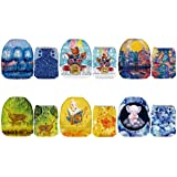 Mama Koala One Size Baby Washable Reusable Pocket Cloth Diapers, 6 Pack with 6 One Size Microfiber Inserts (Dream Land) (Color: Dream Land, Tamaño: One Size)